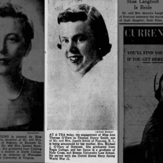 Ann Theresa O'Hare-Smith--newspaper announcement