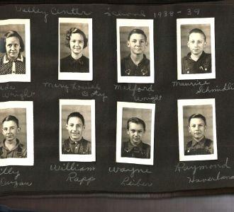 Valley Center School 1938-1939 St. Clair Clounty Missouri