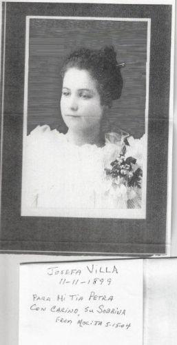 Josefa Villa, Mexico 1899