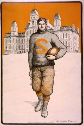 [Syracuse football player, full-length, standing, facing...