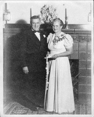 Gussie Beeson wedding day