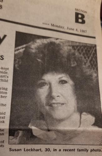 Susan Lockhart Newspaper article