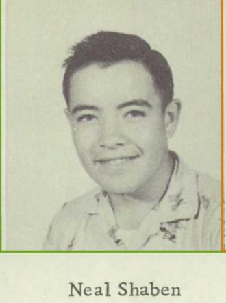 Neal Orvie Shaben--U.S., School Yearbooks, 1900-1999(1957)