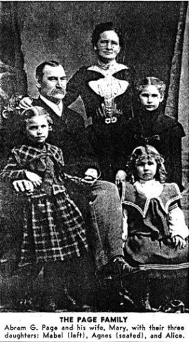 Abram G. & Mary Page family