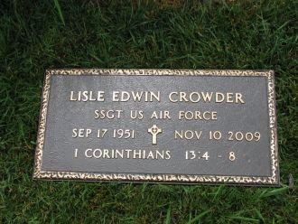 Lisle E Crowder Gravesite