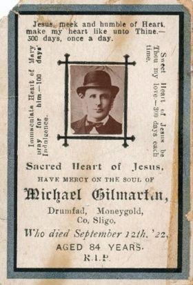 Michael Gilmartin Funeral Card