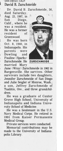 David Burton Zurschmeide Obituary