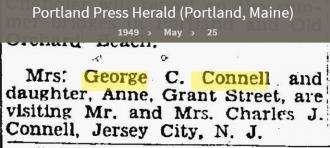 Louise Marie Hagen-Connell--Portland Press Herald (Portland, Maine) (25 may 1949)