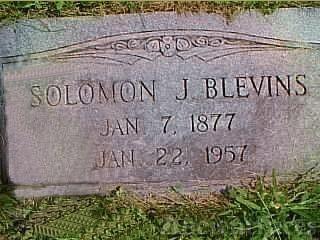 Solomon Jackson Blevins' grave
