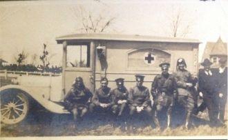 Hewitt family red cross truck