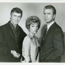 Patrick O'Neal and Anne Baxter and Leslie Neilsen.