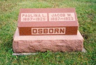Jacob Wesley Osborn & Paulina Locasta Sowle graqvestone