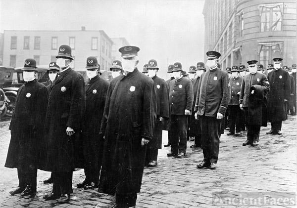 Seattle Policemen 1918 Influenza Epidemic