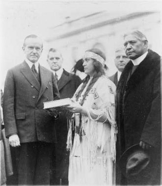 """""""The Red Man"""" Survey - President Coolidge."""