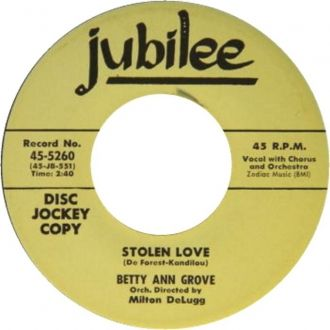 Betty Ann Grove, Jubilee Records