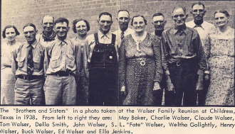 Walser Family Reunion Texas 1938
