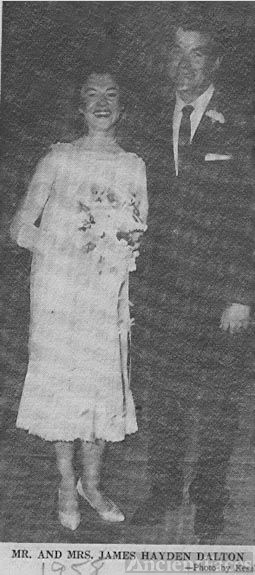 Wedding photo of Mr. and Mrs. James Hayden Dalton