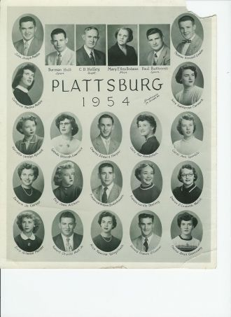 Plattsburg High School, Missouri, 1954