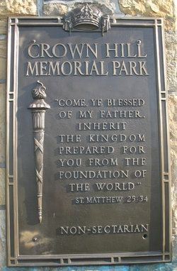 Crown Hill Memorial Park.