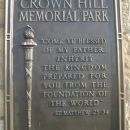 Crown Hill Memorial Park.
