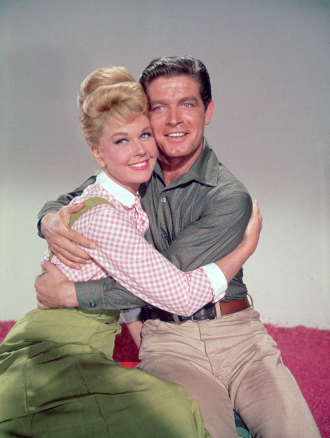 With Doris Day in Jumbo.