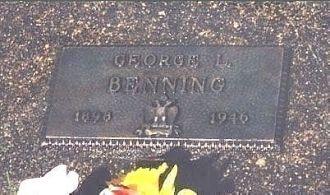 George L. Benning Headstone, Washington
