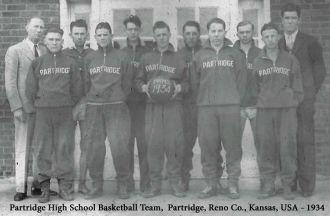 Patridge High School Basketball - 1934
