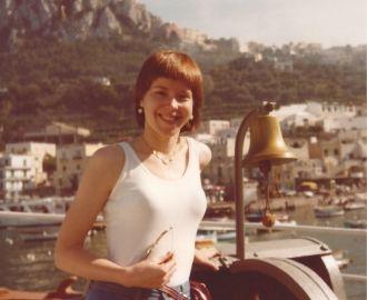 Naomi H. Kulbokas at Capri in Italy.
