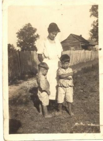 Grandma Russell and sons