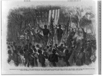 """Emancipation Day in South Carolina"" - the Color-Sergeant..."