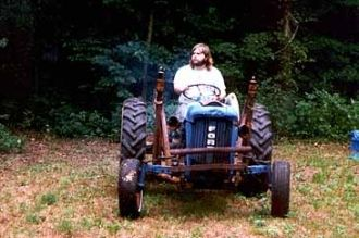 David E Jenkins with tractor