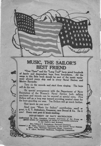 WW1 Sailor's music booklet