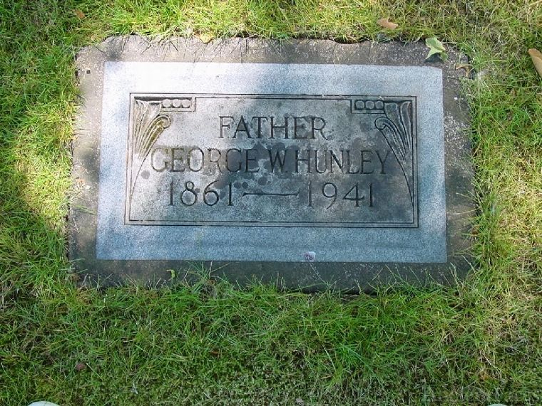 George W. Hunley grave