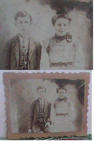 A photo of Elmer and Dorcas (Wedding?)  Tharp