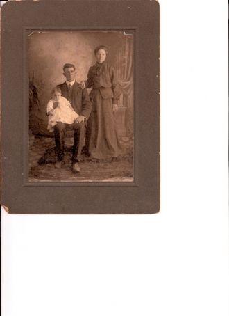 Tom Watson, wife and baby, Ballanger, TX