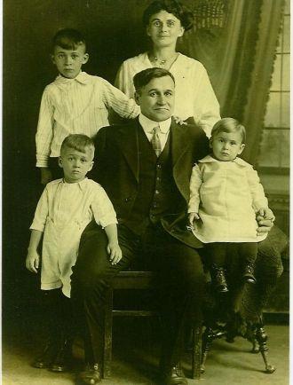 Ida ,George,Newell and Their Three Sons