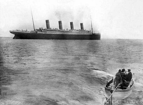Last Photo of the Titanic Afloat