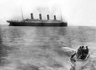 Last Photo of the Titanic Afloat