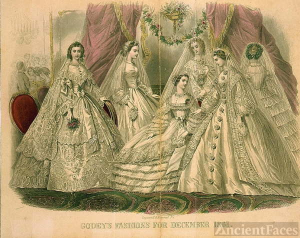 Godey's Magazine Fashions December 1861