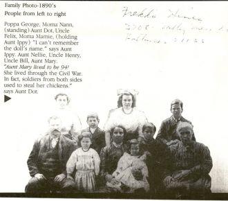 George & Mamie Colvin Family, 1890 VA