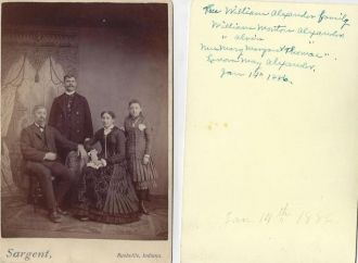 William Alexander Family Rushville Indiana 1886