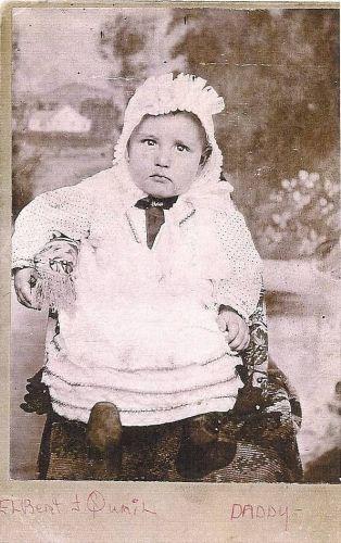 Elbert Joshua Quail as a baby
