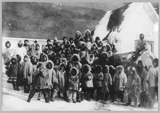 Eskimo school children