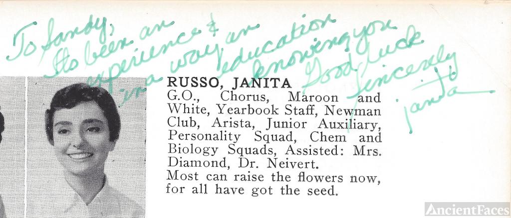 Janita Camille Russo, Bay Ridge High School
