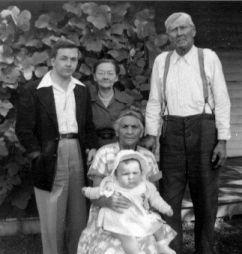 Cornelia, Charles, Elizabeth & John Roseberry, 1951 VA