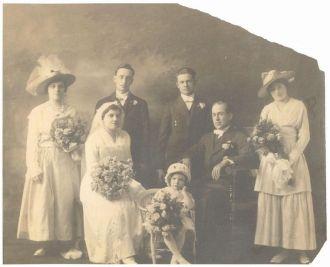 1916 Wedding of Daniel MacPherson and Florence Gor