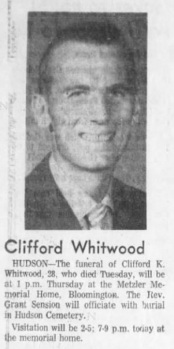 Clifford Whitwood - The Pantagraph Obituary