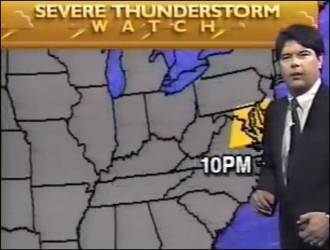 Dennis Smith on The Weather Channel (1989)