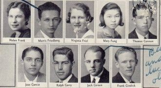 Helen Frank and Seniors from Lowell High School