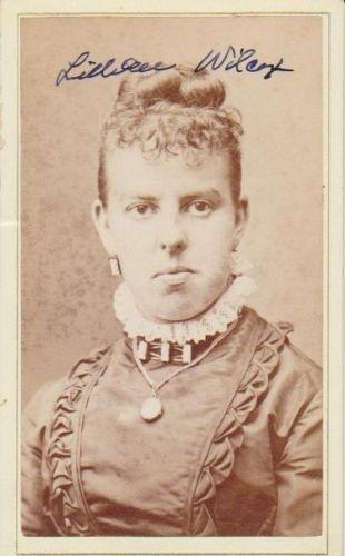 Lillian Wilcox, Michigan 1878